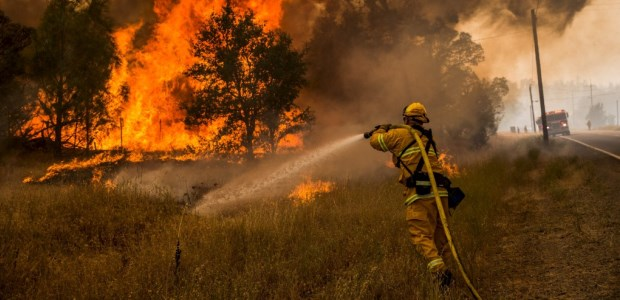 CAL FIRE announced that law enforcement investigators concluded a faulty gas water heater sparked one of the fires that merged to become the Rocky Fire, one of 16 active wildfires in the state as of Aug. 19, 2015.