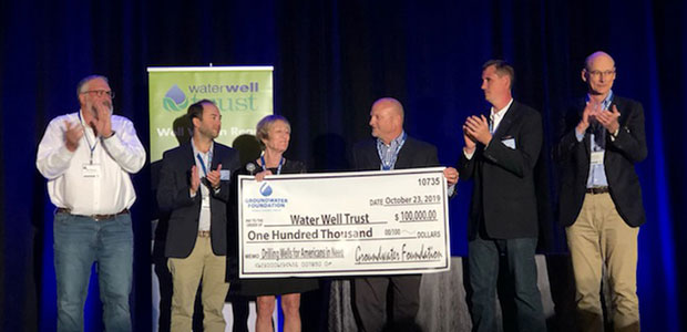 The Groundwater Foundation presents $100,000 to Give Clean Water to Low Income Families