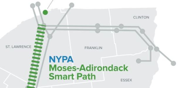 The $440 million rebuild of the Moses-Adirondack transmission artery includes replacing 78 of the 86 miles on each of two transmission lines that were originally constructed by the federal government in 1942 and acquired by the New York Power Authority in 1953.